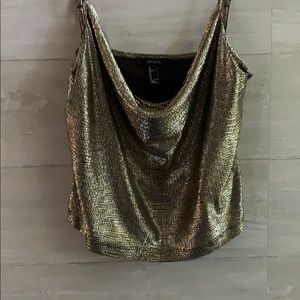 Forever 21 gold and black party top